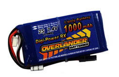 Digi Power 1000mAh 2S Li-Po Rx Batt - 1568