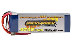 4250mAh 4S 14.8v 35C Li-Po Battery - 2476