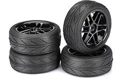 1/10th 6 Spoke Wheels & Tyres (B) - 2510003