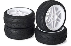 1/10th Onroad 6 Spoke Wheels/Tyres - 2510004