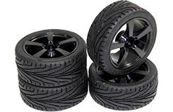 Wheel Set Onroad 5 Spoke Blk 1:10 - 2510006
