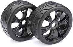 Wheel Set LP Buggy inchStreetinch Blk 1:8 - 2530003