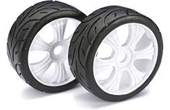 Wheel Set LP Buggy inchStreetinch Whi 1:8 - 2530004