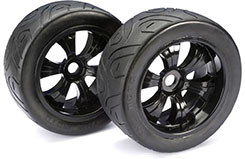 Wheel Set LP Truggy inchStreetinch Blk 1: - 2530006