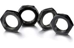 Hex Locknut 17mm Black - 2560006