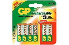 GP 2700 NiMH Cells (4+2 Pk) - 270aahc-u4