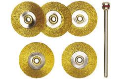 28962 Brass Whl Brush Stl 22mm (5) - 28962