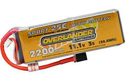 2200mAh 3S 11.1v 25C Sport Li-Po - 2965
