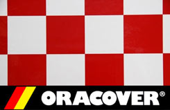 2Mtr Oracover Cheq White/Red - 5523692