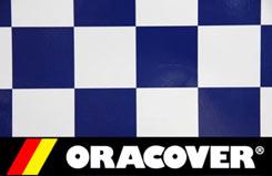 2Mtr Oracover Cheq Wht/Dk Blu - 5523696