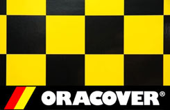 2Mtr Oracover Cheq Black/Yel - 5523702