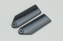 Plastic Tail Blades 35mm-Black - a-rmxptb035b