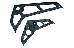 Blade 450D C/F Stabiliser/Fin Set - blh1672c