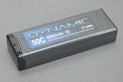 Dynamic 2S 5000mAh 50C Car Li-Po - dyn2s5000c
