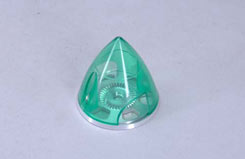 Transparent Spinner 45mm - Green - e-irvspint45g