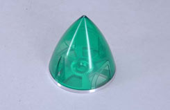 Transparent Spinner 63mm - Green - e-irvspint63g