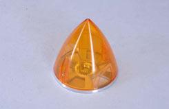 Transparent Spinner 63mm - Orange - e-irvspint63o