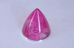 Transparent Spinner 63mm - Pink - e-irvspint63p