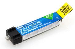 E-Flite 3.7v 150mAh 1S 45C Li-Po - eflb1501s45