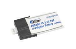 200mAh 1-Cell 3.7v 25C Li-Po Batt - eflb2001s25