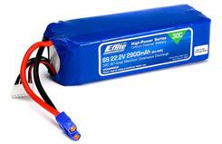 E-Flite 2900mah 6S 22.2volt - eflb29006s30