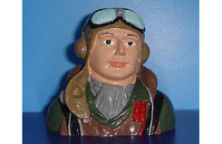 Pilot - Painted WWII 60 Hurr/P-40 - f-vq-ap04