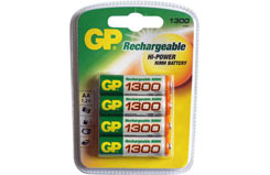 GP 1300 NiMH Cells (4Pk) - gp1300aahc-u4