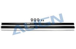 HN7047 Tail Boom/Black 2pcs - hn7047t