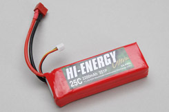 Hi-Energy 3S 2200mAh 25C Li-Po - o-he3s1p220025a