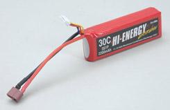 Hi-Energy 3S 2200mAh 30C Li-Po - o-he3s1p220030a