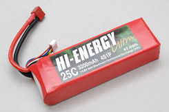 Hi-Energy 4S 3200mAh 25C Li-Po - o-he4s1p320025a