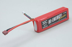 Hi-Energy 4S 3200mAh 30C Li-Po - o-he4s1p320030a