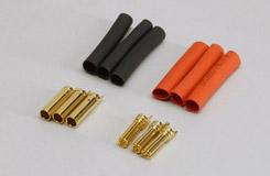Gold Connector 4mm H.Duty (3pr) - o-ra04hd-3