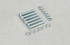 SL043F Nut/Bolt/Washer-3x25mm (Pk6) - t-sl043f