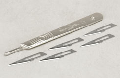 No.3 Scalpel w/No.11 Blade x 5 - t-sm9211