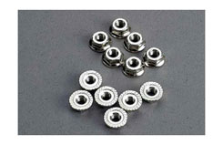 Nuts, 3mm flanged (12) - trx-2744