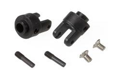 Differential output yokes, black - trx-4628r
