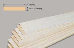 Balsa Sheet 3/32 X 3 X 36 - w-bw32-10