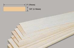Balsa Sheet 1/8 X 3 X 36 - w-bw33-10