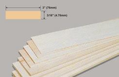 Balsa Sheet 3/16 X 3 X 36 - w-bw34-10
