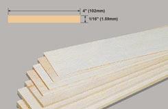 Balsa Sheet 1/16 X 4 X 36 - w-bw41-10