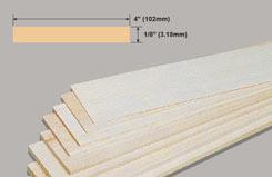 Balsa Sheet 1/8 X 4 X 36 - w-bw43-10