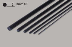 Carbon Rod 2mm x 1m - w-cr201000
