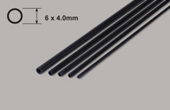 Carbon Tube 6 x4.0mm X750mm - w-ct600750