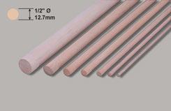 Hardwood Dowel 1/2inch Dia - w-hd7-10