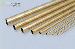 K&S Rnd Brass Tube 7/32inch X12 - w-ks0130