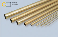 K&S Rnd Brass Tube 7/16inch X12 - w-ks0137