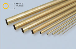 K&S Rnd Brass Tube 15/32inchX12 - w-ks0138