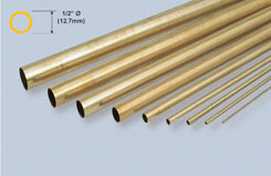K&S Rnd Brass Tube 1/2inch X 12 - w-ks0139