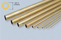 K&S Rnd Brass Tube 5/8 X 12inch - w-ks0143